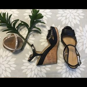 Black Antonio Melani wedges